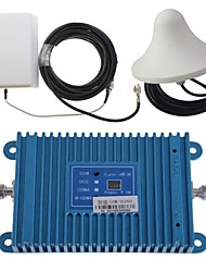 Intelligence Dual Band GSM/3G 900/2100MHz Mobile Phone Signal Repeater Booster Amplifier + Outdoor Panel Antenna Kit