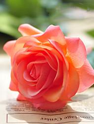 "18""L Rose Silk Cloth Flowers Set of 2 Orange"