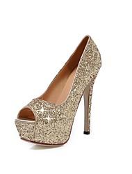 Women's Shoes Glitter Stiletto Heel Peep Toe Pumps Dress More Colors available