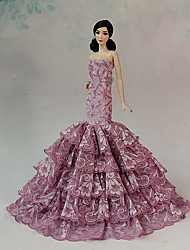 Barbie Doll Fuschia Wedding Organza/Lace Dresses Dresses