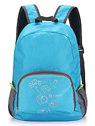 0,25 kg conveniência luz de viagens dobrável mochila azul T107
