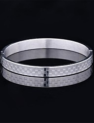 U7® Cool Bracelet for Men 316L Stainless Steel Chunky Bracelet Bangle 18K Gold Plated Never Fade Simple Men's Jewelry Christmas Gifts