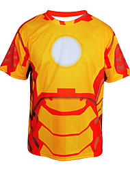 Arsuxeo  Quick Drying Short Sleeve Cycling MTB Trail Jersey Iron Man T shirt