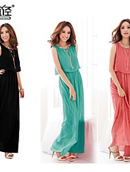 Women's Chiffon Casual Irregular Sleeveless Vest Loose Plus Size Dress