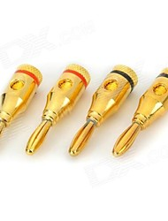 Have A Fever of High-Quality Gold Plated Banana Head Audio Plug And Socket Horn Audio Connection Head (To Install)