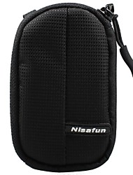 Nisafun Compact Waterproof Zip Pouch Case Bag  for a Point & Shoot Camera Packet-115 black