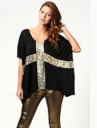 TYTWomen's Fashion Round Neck  All Match Short Sleeve Blouse