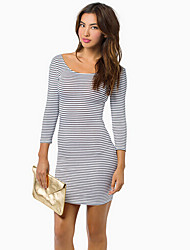 O  M  G   Women's Sexy Slim Backless Long Sleeve Dress