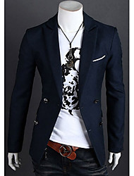 story,Men's Vintage/Casual/Party/Work Joining together color Long Sleeve Suits & Blazers (Cotton/Rayon)