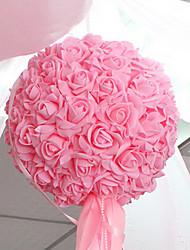 """10.2 """"style moderne simulation fleur rose boule de plastique de tissu de fil fleur décorative balle"""