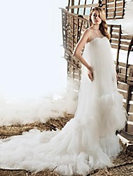 A-line Court Train Wedding Dress -Jewel Lace
