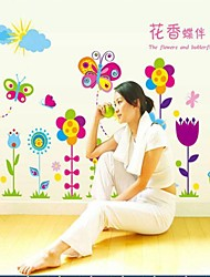 papillon amovible de l'environnement et de fleurs sticker mural PVC
