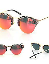 Gafas de Sol mujeres's Modern / Moda Ojo de Gato Negro / Blanco / Amarillo / Dorado / Rojo / Azul / Verde Gafas de Sol Media Montura
