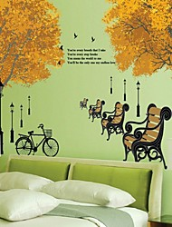 Wall Stickers Wall Decals, Maple Tree PVC Wall Stickers