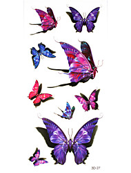 5Pcs 3D Waterproof Color The Pattern Of Butterfly  Pattern Tattoo Stickers