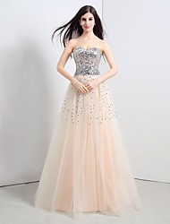 Formal Evening Dress Plus Sizes / Petite A-line Sweetheart Floor-length Tulle