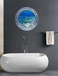 Adesivos de parede adesivos de parede 3d, recifes de parede do banheiro decoração mural pvc etiquetas