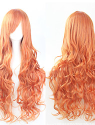 Cosplay Orange Fashion Must-have Girl High Quality Long Curly Hair Wig