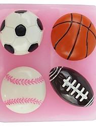 Basketball Football NFL Shaped  Fondant Cake Chocolate Silicone Mold,Cupcake Decoration Tools,L6cm*W6.1cm*H1.8cm