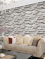 Contemporary Brick Wallpaper Geometric Wall Covering PVC/Vinyl Wall Art