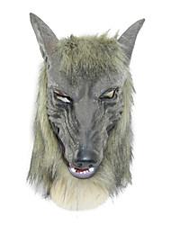 máscara de látex lobo gris para la fiesta de Halloween (1 pc)