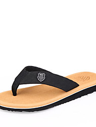Men's Shoes Rubber Outdoor / Casual / Athletic Slip-on / Flip-Flops Outdoor / Casual / Athletic Flat Heel Black / Brown / Gray