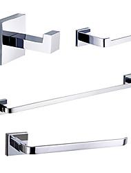 Sets d'accessoire de salle de bain - Contemporain - Chromé - Fixation au Mur