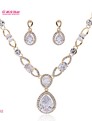 Lady's /Party/Wedding Neoglory Jewelry Necklace Earring Set with Drop CZ Zirconia (More Color)