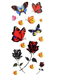 1pc Women's Waterproof Temporary Tattoos Back/Wrist/Neck Tattoos Butterfly Bracelet Jewelry Tattoos(18.5cm*8.5cm)