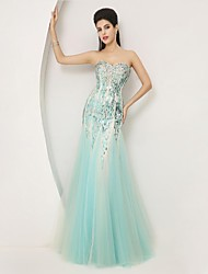 Homecoming Trumpet/Mermaid Sweetheart Floor-length Tulle Formal Evening Dress