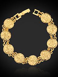 U7® 18K Real Chunky Gold Plated Muslim Allah Bracelet Bangle Islamic Jewelry Gift for Women Men 19CM