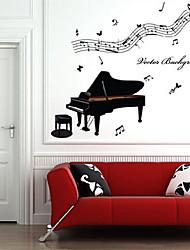 Environmental Removable Piano PVC Tags & Sticker