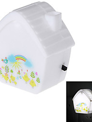 1W 4-LED Dream House Switch Energy Conservation Nightlight Lamp (US Plug / 220V)