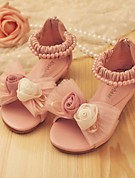 Girls' Shoes Dress Comfort Peep Toe Leather Sandals More Colors available