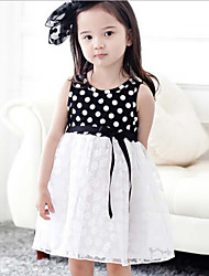 Girl's  Plum Polka Dot Dress
