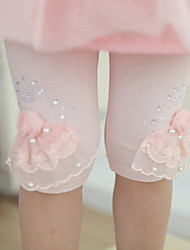 Girl's Pearl Flowers Leggings