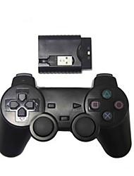 neue drahtlose Schock Game-Controller für PS2 / PS3 / PC Wireless-Controller (2,4 GHz / schwarz)