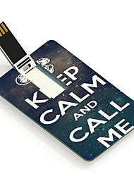 4gb сохранять спокойствие и позвоните мне дизайн карты USB флэш-накопитель