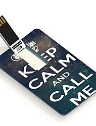 4GB Keep Calm and Call Me Design Card USB Flash Drive