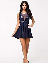 Vestidos Poliéster/Licra , Desempeño/Ropa de Noche ) - Desempeño/Ropa de Noche - para Mujer