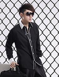 Black Cotton Tailorde Fit Shirt