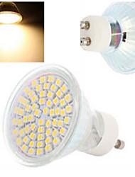4W GU10 LED Spot Lampen 60LED SMD 3528 300-560 lm Warmes Weiß / Kühles Weiß AC 220-240 V 1 Stück