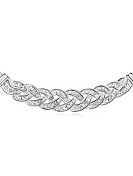 collar corto vals plateado con 18k verdadero cristal de platino claro cristalizadas piedras de cristal austríaco