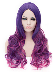European And American Fashion Purple Gradient Curly Hair Wig