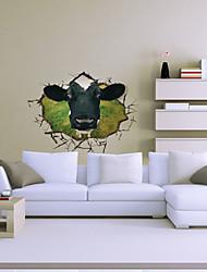 3d корова стены стикеры стены наклейки