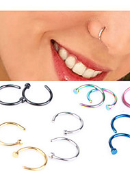 Body Piercing Jewellery Fashion Stainless Steel  Nose Ring Body Jewelry Piercing(Random Color