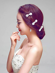 Korean Imitation Pearls Wedding/Party Bridal Hairpins with Earring (3 pieces/set)
