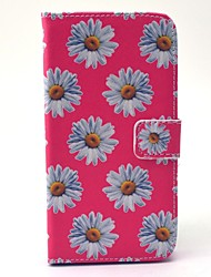 EFORCASE Pink Chrysanthemum Painted PU Phone Case for Galaxy S6 edge S6 S5 S4 S3 S5 mini S4 mini S3 mini
