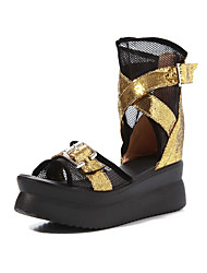 Women's Shoes Platform Slingback/Comfort Sandals Office & Career/Dress Silver/Gold
