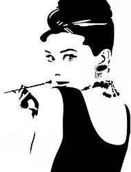 stickers muraux, stickers muraux de style Hepburn tuyaux pvc stickers muraux
